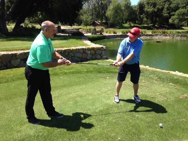 Kids golf instruction with Perry Dotson in Ramona California